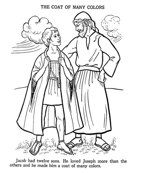 coloring pictures of joseph joseph and the coat of many colours bible story colouring