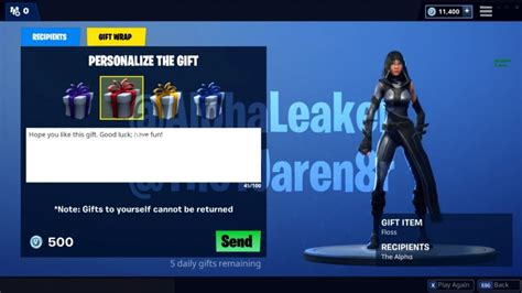 fortnite gifting fortnite gifting system has received a big update