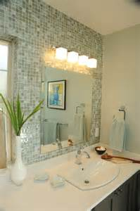 tile mirror to the ceiling bathroom update