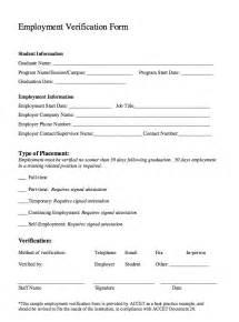 sample employment verification form template resumes design