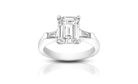 groupon haircut ct 1 00 ct ladies emerald cut diamond engagement ring groupon