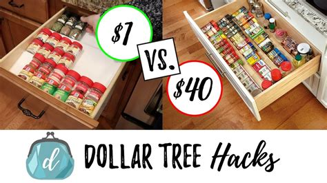 dollar store hacks dollar tree hacks to organize spice drawers cabinets