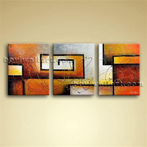 big wall art large 3 pc modern abstract canvas wall art giclee oil