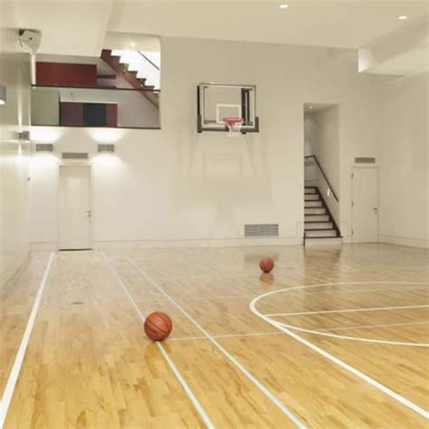 home basketball court on indoor basketball