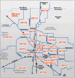 Tucson Arizona Zip Code Map by Zip Codes Tucson Arizona Map