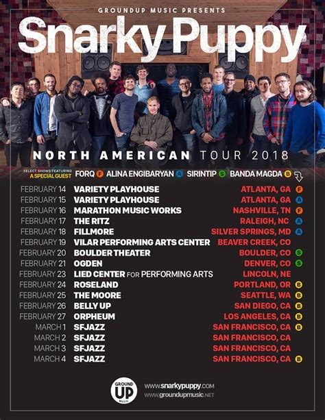 Up With Snarky Snarky Gossip 11 by Snarky Puppy Set 2018 Tour Dates