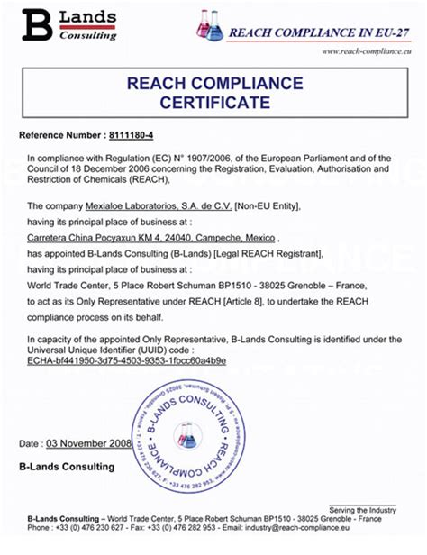 certificate of compliance template regulatory compliance