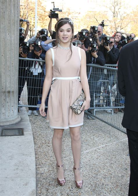 Fashion Week Lanvin Miu Miu by Hailee Steinfeld At Miu Miu Fashion Show At Fashion