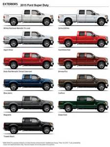 2015 ford truck colors hiller ford 2015 ford duty exterior colors 2015