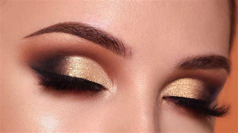 tutorial eyeshadow wardah seri l glam gold smokey eye makeup tutorial morphe 35o2 palette