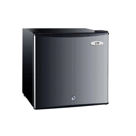 spt 1 1 cu ft upright compact freezer in stainless uf