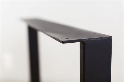 diy u shaped table legs u shape black steel dining table legs modern diy top plate