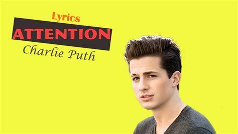 charlie puth karaoke charlie puth attention karaoke youtube