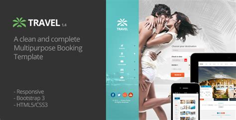 themeforest travel agency travel agency responsive hotel online booking themeforest