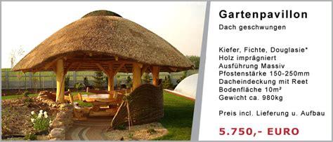 pavillon reetdach gartenpavillons ger 228 teschuppen g 252 nstig bauen lassen