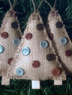country style ornaments rustic ornaments on burlap ornaments
