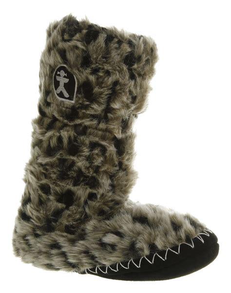 faux fur boot slippers s bedroom athletics arctic leopard faux fur