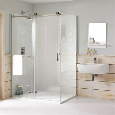 eclipse rectangular shower enclosure by cooke lewis from b q