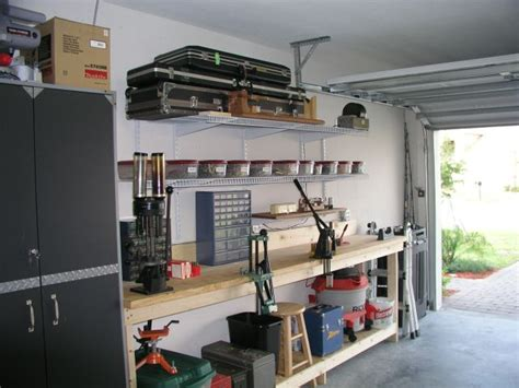 reloading bench setup nice reloading bench in garage guns lot