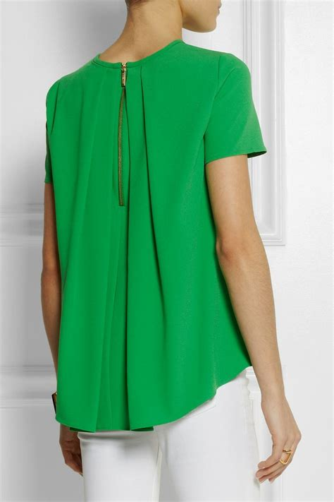 Tops 100 At The Net A Porter Sale by Michael Michael Kors Pleated Back Stretch Crepe Top