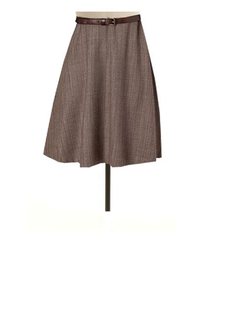Handmade Skirts - brown flared skirt custom handmade fully lined