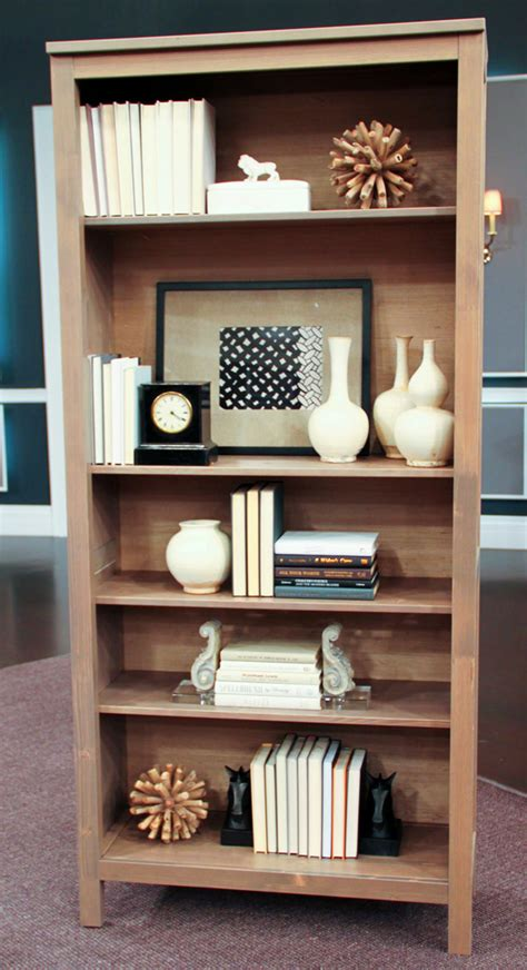 how to decorate shelves how to style a bookcase steven and chris