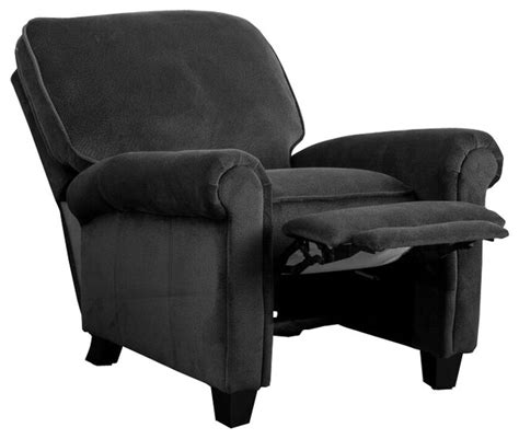 Black Fabric Recliner Chair by Home Kent Fabric Recliner Club Chair
