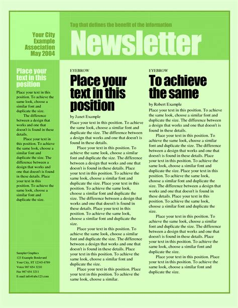 Monthly Weekly Newsletter Template Newsletter Outline Template