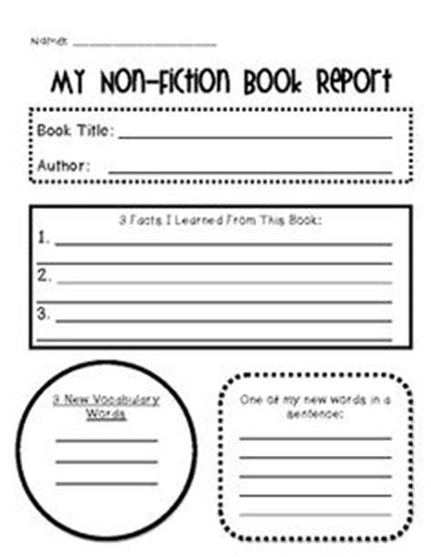 grade non fiction book reports search