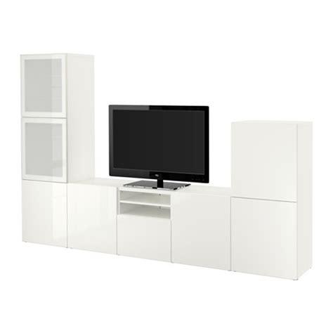 besta products best 197 tv storage combination glass doors white selsviken
