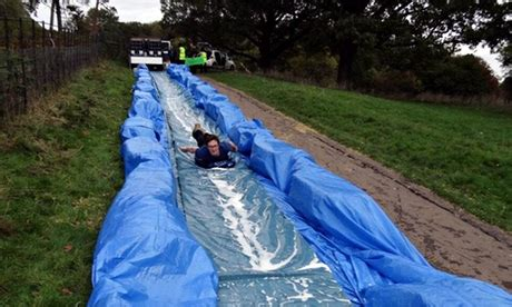 how to make a water slide in your backyard in england there are plans to turn a street into a giant