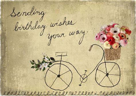 Birthday Cards To Post On Free Quot Sending Wishes Postcard Quot Birthday Postcard Blue