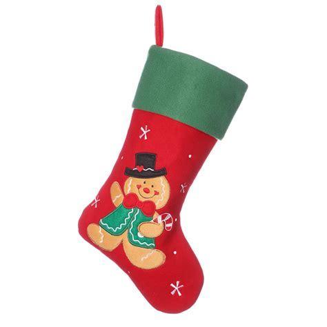 Festive Gingerbread Man Children's Christmas Stocking