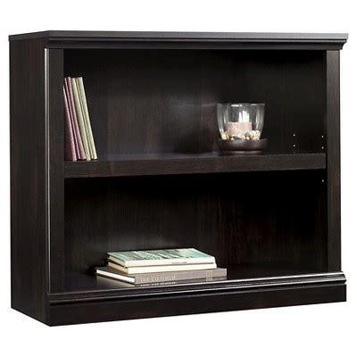 Sauder Black Bookcase 2 Shelf Bookcase Estate Black Sauder Target