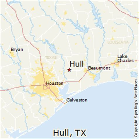 hull texas map best places to live in hull texas