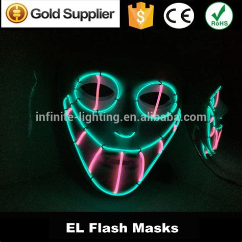 light mask led light up mask masquerade masks el wire lace