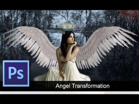 adobe photoshop wings tutorial adobe photoshop cs6 angel transformation speed art