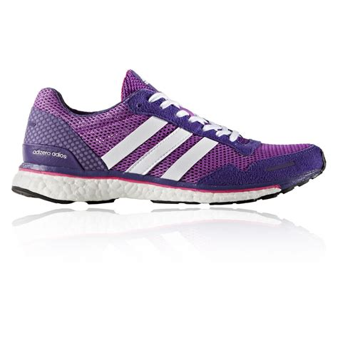 adidas road running shoes adidas adizero adios 3 womens purple cushioned running
