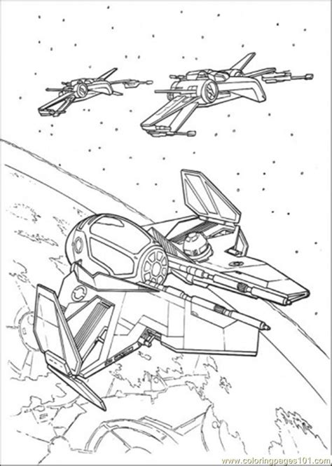 coloring pages star wars ship  cartoons star wars
