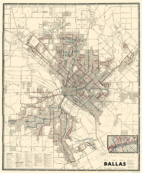dallas texas city map historic city maps dallas texas tx by dallas railway terminal co 1941