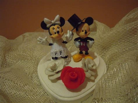mickey mouse  minnie mouse wedding cake topper disney