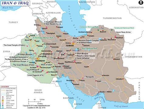 map  iraq  iran