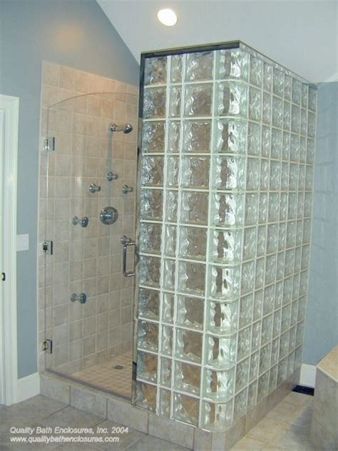 Glass Block Bathroom Ideas Glass Block Shower Exterior Wall In All Baths Glass Block Showers Pinterest Exles