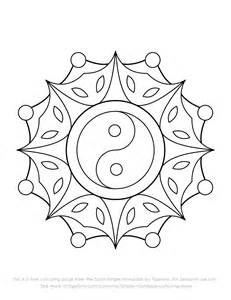 Free Simple Yin Yang Mandala Colouring Page By Tigerlynx sketch template