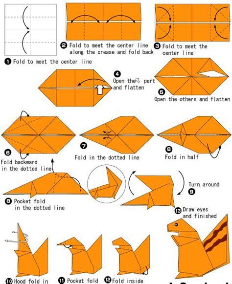 Easy Origami Squirrel - 儿童折纸松鼠简单手工折纸教程 纸艺网