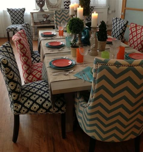 dining room chair fabric ideas cotton fabric dining room chair ideas with gray patterned