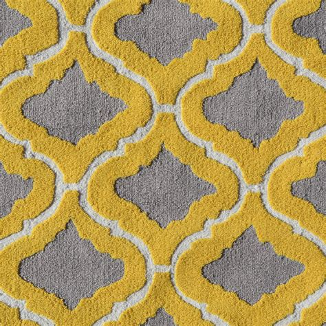 Patterned Rug by District17 Marrakesh Yellow Rug Patterned Rugs