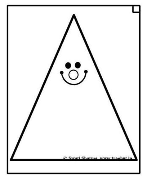Free Printable Pre School Coloring Pages Triangle Tree Coloring Page