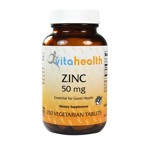 supplement zinc dosage zinc 50 mg dietary supplement 250 vegetarian tablets