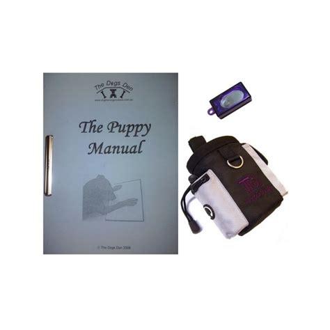 puppy kit puppy clicker starter kit manual clicker treat bag